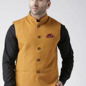 sleeveless solid Men jacket
