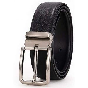 Men's Reversible Leather Belt,Classic Dress And Casual Style Interchange